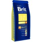 Корм Brit Premium для щенков средних пород: 2-12мес. (Junior M) 132331, 15 кг