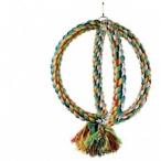 """Dezzie Игрушка-Кольца """"Сфера"""" для птиц, 30см, хлопок, дерево (5608064), 0,25 кг"""