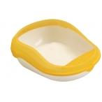Dezzie Туалет для кошек 48*37*16,5см, с рамкой, пластик (5600040), 0,3 кг