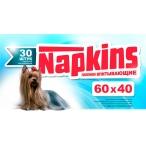 Napkins Впитывающие пеленки для собак 60*40см, 30шт., 0,3 кг