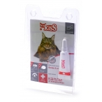 Ms.Kiss Капли от блох и клещей для кошек более 4 кг, 1пипетка MK05-00070, 0,02 кг