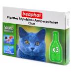 Beaphar Капли Био от блох для кошек 3 пипетки, 0,033 кг
