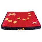 Dezzie Лежак-коврик красный с лапами, 80*70*8 см (5615955), 0,3 кг