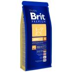 Корм Brit Premium для собак средних пород (10-25 кг): 1-6лет (Adult M) 132323, 15 кг