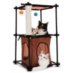 """Kitty City Игровой комплекс с когтеточкой для кошек: Биг Бен. """"Tower"""": 79*45*45см, сизаль (sp0301), 1,75 кг"""