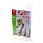 Ms.Kiss Капли репеллентные для котят и мелких кошек весом до 2 кг, 3шт по 1 мл МК05-00350, 0,003 кг