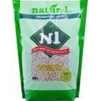 """N1 Комкующийся древесный (гималайский кедр) наполнитель Naturel """"Зеленый чай"""" на 4,5 л, 1.75 кг"""