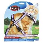 Trixie Шлейка с поводком для крупных кошек, 34-57 см, 13 мм., 0,114 кг