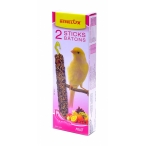 Benelux Лакомые палочки с фруктами для канареек (Seedsticks canary with fruit x 2 pcs) 16211, 0,11 кг