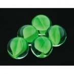Dezzie Грунт аквариумный, прозрачный со вставками зеленого цвета, 16мм, 200г, стекло (5623003), 0,2 кг