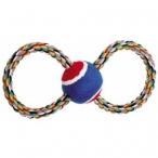 """Dezzie Игрушка """"Тяни-толкай """"Восьмерка-теннис""""для собак, 23см, хлопок, резина (5608040), 0,17 кг"""