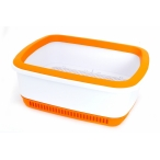 Canada Litter Кошачий туалет с системой защиты от запаха CatEco - оранжевый, 0,8 кг