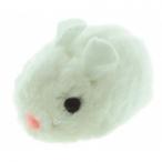 """Dezzie Виброигрушка """"Плюшевая мышь"""" белого цвета для кошек, 8см, плюш (5605089), 0,04 кг"""
