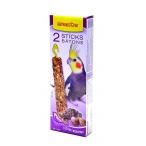 Benelux Лакомые палочки с витаминами, йодом и клетчаткой для длиннохвостых попугаев (Seedsticks parakeet iodine/shells x 2 pcs) 16253, 0,11 кг