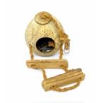 Benelux Кокосовый домик с лесенкой, 15*11*11 см (Coconut house type 2) 34242, 0,34 кг