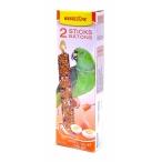 Benelux Лакомые палочки с медом и яйцом для больших попугаев (Seedsticks xxl parrots+Honey/Egg x 2 pc) 16263, 0,18 кг
