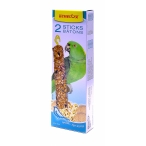 Benelux Лакомые палочки с попкорном для больших попугаев (Seedsticks xxl parrot Popcorn/Rrice x 2 pcs) 16261, 0,18 кг