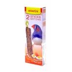 Benelux Лакомые палочки с яйцом для экзотических птиц (Seedsticks exotic finch + Eggs x 2 pcs) 16232, 0,11 кг