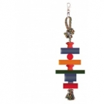 """Dezzie Игрушка """"Фигуры"""" для птиц, 28см, хлопок, дерево (5608078), 0,02 кг"""