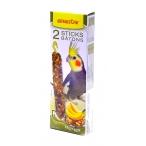 Benelux Лакомые палочки с орехами и бананом для длиннохвостых попугаев (Seedsticks parakeet Nuts/Banana x 2 pcs) 16252, 0,11 кг