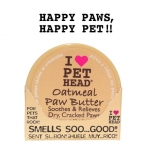 Pet Head Масло для потрескавшихся Лап с маслами ши, овсянки, жожоба, кокоса, оливок и алоэ вера (OATMEAL Natural Paw Butter), 0,05 кг