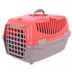 Stefanplast Переноска Gulliver 1 Trendy Colour красная, до 6 кг, с пластиковой дверкой, 48x32x31 см, 1,3 кг