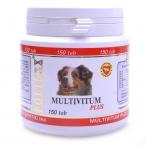 Polidex Multivitum plus поливитаминно-минеральный комплекс для собак, 150 таб. (1 таб. на 5 кг массы тела), 130 г