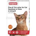 Beaphar Ошейник от блох и клещей для кошек (оранжевый), 50 г