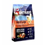 Корм Ontario для собак крупных пород с 7 видами рыбы и рисом, Ontario Adult Large Fish & Rice, 12 кг