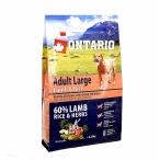 Корм Ontario для собак крупных пород с ягненком, индейкой и рисом, Ontario Adult Large Lamb, Turkey & Rice, 12 кг