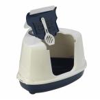 Moderna Туалет-домик угловой Flip с угольным фильтром, 55х45х38см, черничный, 1,6 кг
