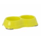 Moderna Двойная миска нескользящая Smarty, 2*645мл, лимонно-желтый, 240 г
