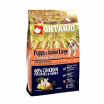Корм Ontario для щенков крупных пород с курицей и картофелем, Ontario Puppy & Junior Large Chicken & Potatoes, 2.25 кг