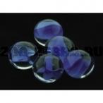 Dezzie Грунт аквариумный, прозрачный со вставками синего цвета, 16 мм, стекло, 200 г