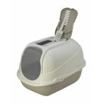 Moderna Туалет-домик Mega Comfy с совком и угольным фильтром, 65,7x49,3х47, теплый серый, 2,6 кг