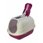 Moderna Туалет-домик Mega Comfy с совком и угольным фильтром, 65,7x49,3х47, ярко-розовый, 2,6 кг