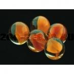 Dezzie Грунт аквариумный, прозрачный со вставками оранжевого цвета, 16 мм,стекло, 200 г
