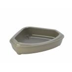 Moderna Туалет-лоток угловой с рамкой corner+rim, 55х45х13, теплый серый (corner tray with rim), 700 г