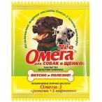 Астрафарм Омега Neo витамины для собак и щенков с протеином и L-карнитином, 15 таб. (саше), 10 г