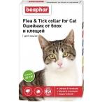 Beaphar Ошейник от блох и клещей для кошек (зеленый), 50 г