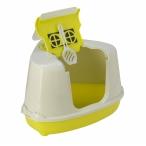 Moderna Туалет-домик угловой Flip с угольным фильтром, 55х45х38см, лимонно-желтый, 1,6 кг