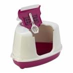 Moderna Туалет-домик угловой Flip с угольным фильтром, 55х45х38см, ярко-розовый, 1,6 кг