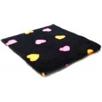 """ProFleece коврик меховой """"Сердце"""", 1х1,6м, черный/оранжевый/розовый"""