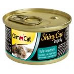 Корм Gimcat ShinyCat с цыпленком и креветками в желе, 70 г