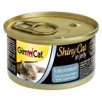 Корм Gimcat ShinyCat с тунцом и креветками в желе, 70 г