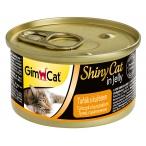Корм Gimcat ShinyCat с тунцом и цыпленком в желе, 70 г