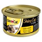 Корм Gimcat ShinyCat с тунцом и сыром в желе, 70 г