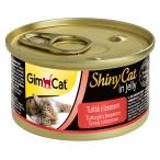 Корм Gimcat ShinyCat с тунцом и лососем в желе, 70 г
