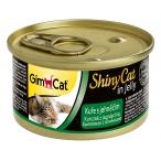 Корм Gimcat ShinyCat с цыпленком и ягненком в желе, 70 г