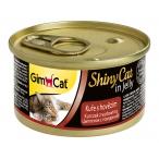 Корм Gimcat ShinyCat с цыпленком и говядиной в желе, 70 г